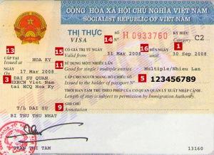 visa d'entree au Vietnam