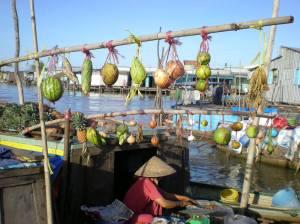 Marche flottant du delta du Mekong