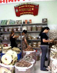 la rue de plantes medicinale a Hao Chi Minh